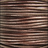 1.5mm round Indian leather - METALLIC tamba - per 25m SPOOL