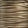 1.5mm round Indian leather - METALLIC kansa - per 25m SPOOL