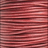 1.5mm round Indian leather - METALLIC moroccan red - per 25m SPOOL