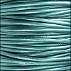 1.5mm round Indian leather - METALLIC trully teal - per 25m SPOOL