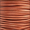 1.5mm round Indian leather - METALLIC dusty brown - per 25m SPOOL