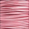 1.5mm round Indian leather - METALLIC mystiq pink - per 25m SPOOL