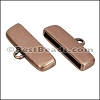 20mm flat ROUNDED loop end ANT COPPER - per 10 pieces