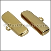 20mm flat ROUNDED loop end GOLD - per 10 pieces