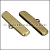 30mm flat ROUNDED loop end ANT BRASS - per 10 pieces
