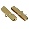 30mm flat ROUNDED loop end GOLD - per 10 pieces
