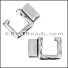 HAMMERED SQUARE clasp ANTIQUE SILVER - per 10 clasps