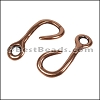Multi Round RUSTIC FISH HOOK connector ANT COPPER - per 10 pieces