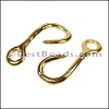 Multi Round RUSTIC FISH HOOK connector ANT GOLD - per 10 pieces