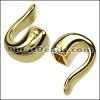4mm round HAMMERED HOOK end SHINY GOLD - per 10 pieces