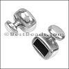 4mm round SINGLE KNOB end ANT SILVER - per 10 pieces
