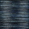 1.5mm round Indian leather - natural denim - per 25m SPOOL