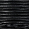1.5mm round Indian leather - natural black matte - per 25m SPOOL