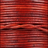 1.5mm round Indian leather - natural red - per 25m SPOOL