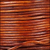1mm round Indian leather - natural med. brown - per 25m SPOOL