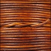 1.5mm round Indian leather - natural lt brown - per 25m SPOOL