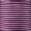 1.5mm round Indian leather - purple METALLIC - per 25m SPOOL
