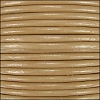2mm round Indian leather - khaki - per 25m SPOOL