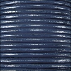 2mm round Indian leather - navy - per 25m SPOOL