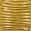 2mm round Indian leather - yellow - per 25m SPOOL