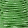 2mm round Indian leather - green - per 25m SPOOL