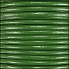 2mm round Indian leather - kelly green - per 25m SPOOL