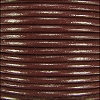 0.5mm round Indian leather - dark brown - per 25m SPOOL