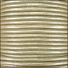 1mm round Indian leather - vintage pearl METALLIC - per 25m SPOOL