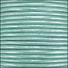 1.5mm round Indian leather - lt turquoise METALLIC - per 25m SPOOL