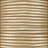 1.5mm round Indian leather - cream METALLIC - per 25m SPOOL