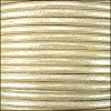 1.5mm round Indian leather - pearl METALLIC - per 25m SPOOL