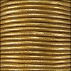 1.5mm round Indian leather - bronze METALLIC - per 25m SPOOL