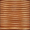1.5mm round Indian leather - burnt gold METALLIC - per 25m SPOOL