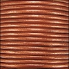 1.5mm round Indian leather - burnt orange METALLIC - per 25m SPOOL