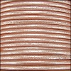1.5mm round Indian leather - salmon musk METALLIC - per 25m SPOOL