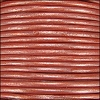 1.5mm round Indian leather - light rust METALLIC - per 25m SPOOL