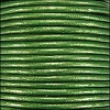 1.5mm round Indian leather - kelly green METALLIC - per 25m SPOOL