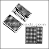 20mm flat POLKA DOT magnetic clasp ANTIQUE SILVER - per 10 clasps