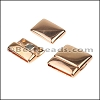 20mm flat ROUNDED magnetic clasp ROSE GOLD - per 10 clasps