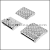 20mm flat SCALES magnetic clasp ANT SILVER - per 10 clasps