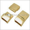 10mm flat RECTANGLE magnetic clasp SHINY GOLD - per 10 clasps