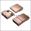 10mm flat RECTANGLE magnetic clasp ANT COPPER - per 10 clasps