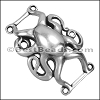 10mm flat OCTOPUS slider ANT SILVER - per 10 pieces