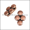 10mm flat 4 DISC spacer ANT COPPER - per 10 pieces
