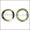 10mm flat HAMMERED RING spacer ANT BRASS - per 10 pieces