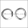 10mm flat HAMMERED RING spacer ANT SILVER - per 10 pieces