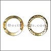 10mm flat HAMMERED RING spacer SHINY GOLD - per 10 pieces