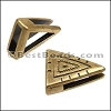 10mm Flat SOUTHWEST TRIANGLE slider ANT BRASS - per 10 pieces