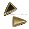 5mm Flat PLAIN TRIANGLE slider ANT BRASS - per 10 pieces