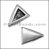 5mm Flat PLAIN TRIANGLE slider ANT SILVER - per 10 pieces